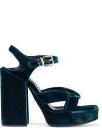 Sandales bleu marine Jil Sander