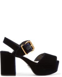 Sandales bleu marine Prada