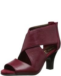Sandales bordeaux