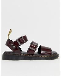 Sandales bordeaux Dr. Martens
