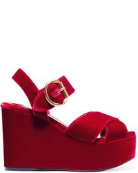 Sandales bordeaux Prada
