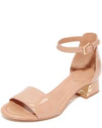 Sandales brunes claires Tory Burch