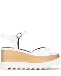 Sandales compensées blanches Stella McCartney