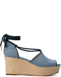 Sandales compensées bleues MICHAEL Michael Kors