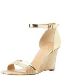 Sandales compensees dorees original 9785610