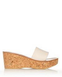 Sandales Tropez Compensées Cuir Jacques En St Acheter K Blanches nwN0m8