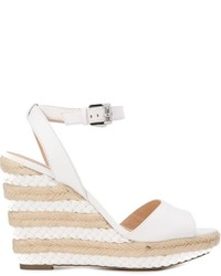 Sandales compensées en cuir blanches MICHAEL Michael Kors