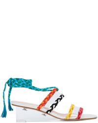 Sandales compensées en cuir blanches Ritch Erani NYFC