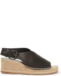 Sandales compensées en cuir noires Rag & Bone