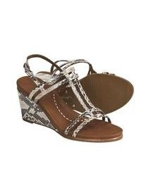 Sandales compensees en cuir original 1645773