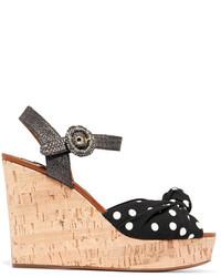 Sandales compensées noires Dolce & Gabbana
