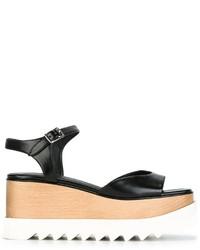 Sandales compensées noires Stella McCartney