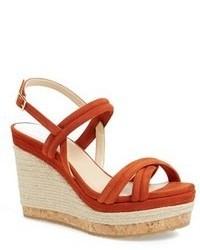 Sandales compensees rouges original 1642947