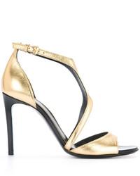 Sandales dorées Lanvin