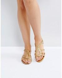 Sandales dorées Mango
