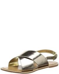 Sandales dorées New Look