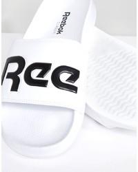 Sandales en caoutchouc blanches et noires Reebok