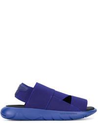 Sandales en caoutchouc bleu marine Y-3