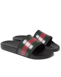 Sandales en caoutchouc multicolores Gucci