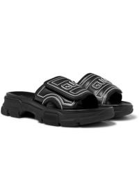 Sandales en caoutchouc noires Gucci