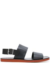 Sandales en caoutchouc noires Marni