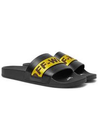 Sandales en caoutchouc noires Off-White