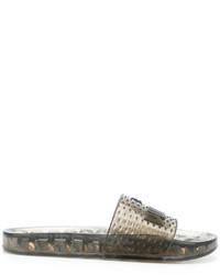 Sandales en caoutchouc noires Puma