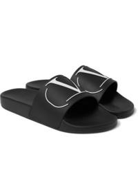 Sandales en caoutchouc noires Valentino