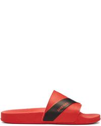 Sandales en caoutchouc rouges Diesel