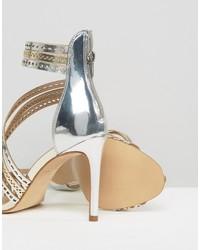 Sandales en cuir argentées Carvela