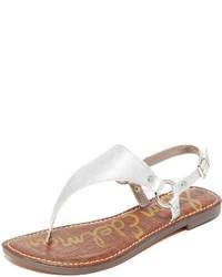 Sandales en cuir argentées Sam Edelman