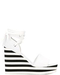 Sandales en cuir blanches Max Mara