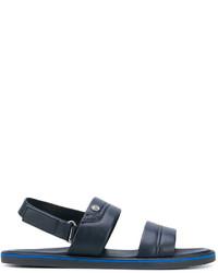 Sandales en cuir bleu marine Baldinini