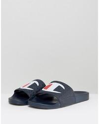 Sandales en cuir bleu marine Champion