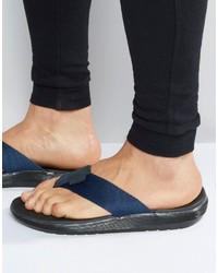 Sandales en cuir bleu marine Dr. Martens