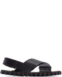 Sandales en cuir bleu marine Valentino