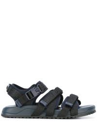 Sandales en cuir bleu marine Versace