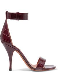 Sandales en cuir bordeaux Givenchy