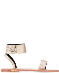 Sandales en cuir dorées Golden Goose Deluxe Brand