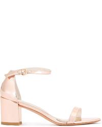 Sandales en cuir dorées Stuart Weitzman