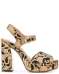 Sandales en cuir dorées Tory Burch