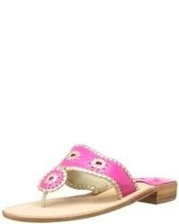 Sandales en cuir fuchsia