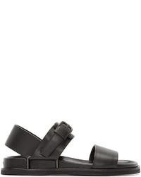 Sandales en cuir gris foncé Maison Margiela