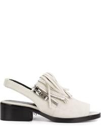 Sandales en cuir grises 3.1 Phillip Lim
