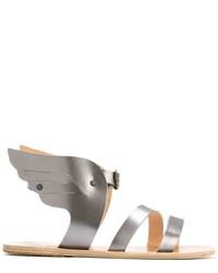 Sandales en cuir grises Ancient Greek Sandals