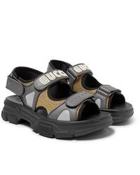 Sandales en cuir grises Gucci
