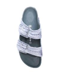 Sandales en cuir grises Rick Owens