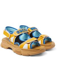 Sandales en cuir jaunes Gucci
