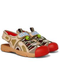 Sandales en cuir marron clair Gucci