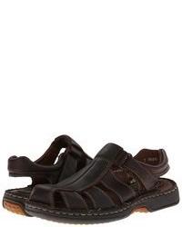 Sandales en cuir marron foncé